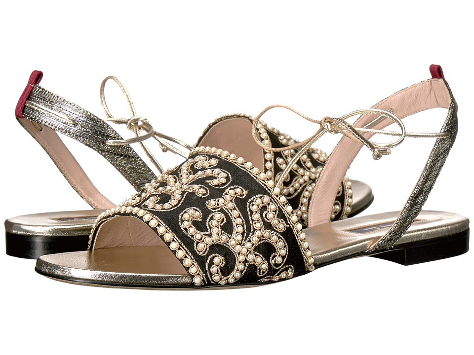 SJP by Sarah Jessica Parker - Verona (Deeply Gold/Black/White Embroidery) Women's Shoes