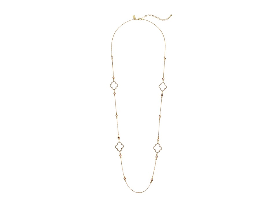 Kate Spade New York - Lantern Gems Scatter Necklace (Cherry Quartz) Necklace