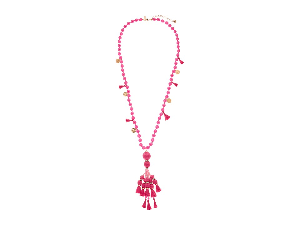 Kate Spade New York - Pretty Poms Tassel Pendant Necklace (Pink) Necklace