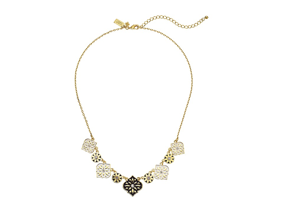 Kate Spade New York - Moroccan Tile Mini Necklace (Black) Necklace