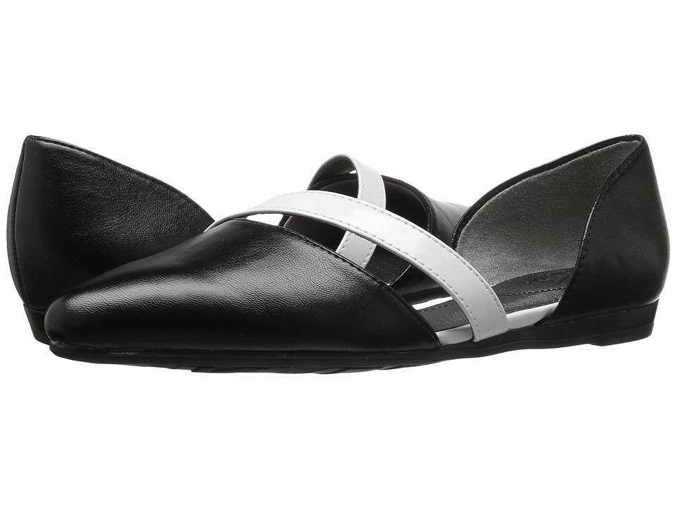 LifeStride - Quell (Black/White) Women's Dress Flat Shoes