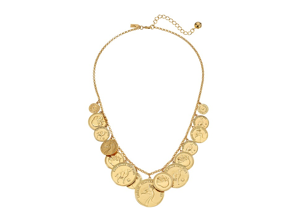 Kate Spade New York - Flip A Coin Necklace (Gold) Necklace