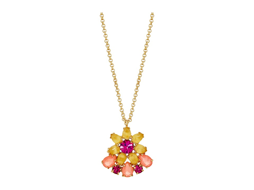 Kate Spade New York - Brilliant Bouquet Mini Pendant Necklace (Multi) Necklace