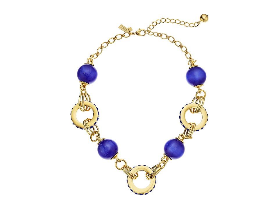 Kate Spade New York - Second Nature Small Statement Necklace (Blue Multi) Necklace