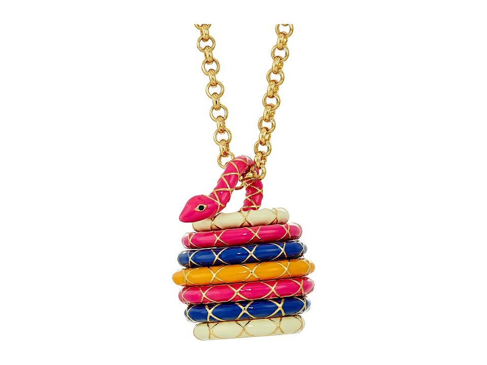 Kate Spade New York - Spice Things Up Snake Locket Necklace (Multi) Necklace