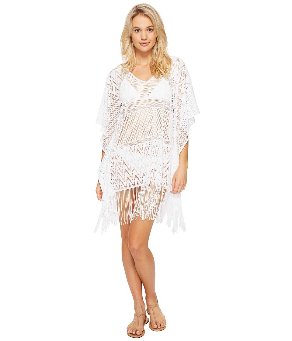 La Blanca - Crystal Cove Crotchet Tunic Cover-Up (White) Women's Swimwear