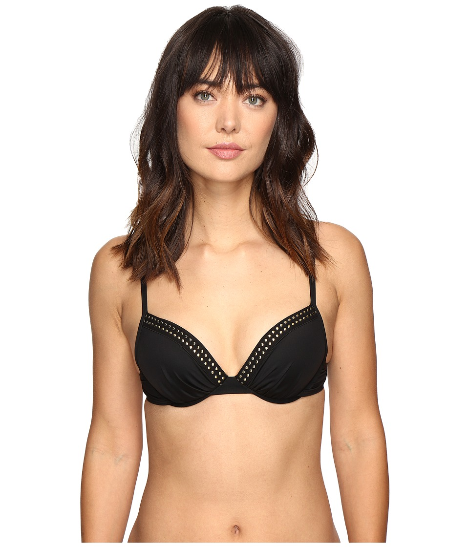 La Blanca Nailed It Over the Shoulder Underwire Bra (Black) Women