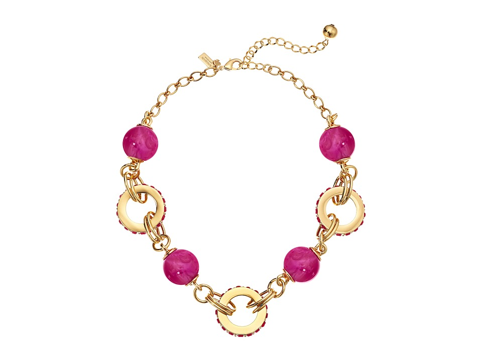 Kate Spade New York - Second Nature Small Statement Necklace (Pink Multi) Necklace