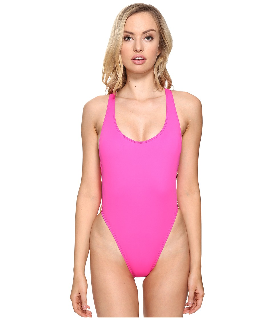 La Blanca The Anniversary Two-Button One-Piece (Flamingo) Women's Swimsuits  One Piece