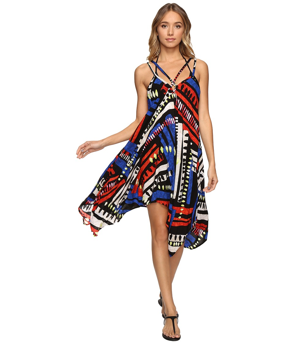 La Blanca African Beat Handkerchief Dress Cover-Up (Multi) Women