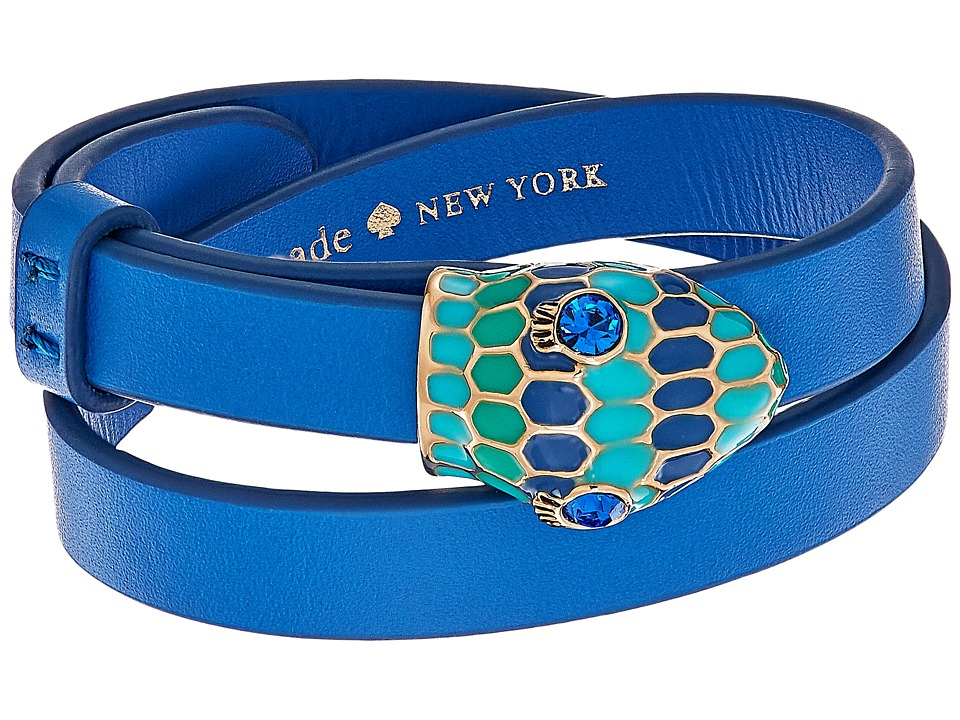 Kate Spade New York - Spice Things Up Snake Wrap Bracelet (Blue Multi) Bracelet