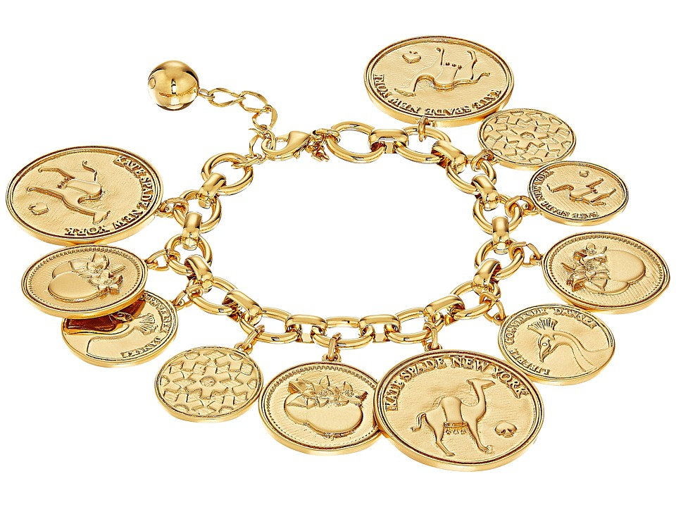 Kate Spade New York - Flip A Coin Bracelet (Gold) Bracelet