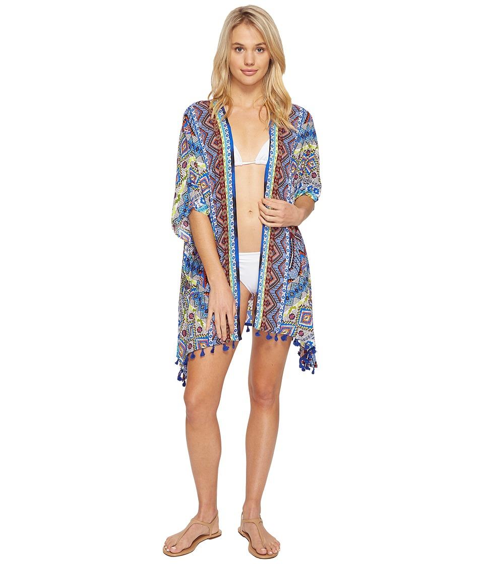 La Blanca - Tapmastery Kimono Cover-Up (Multi) Women's Swimwear