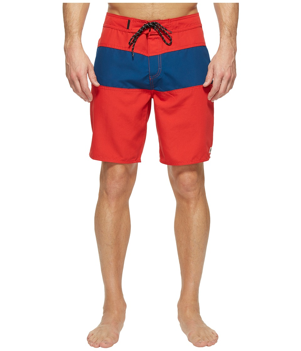 Tavik Spectrum Boardshorts (Red/Blue) Men