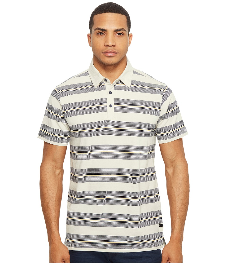 Tavik - Swift Polo Stripe (Grey/Indigo) Men's Short Sleeve Pullover