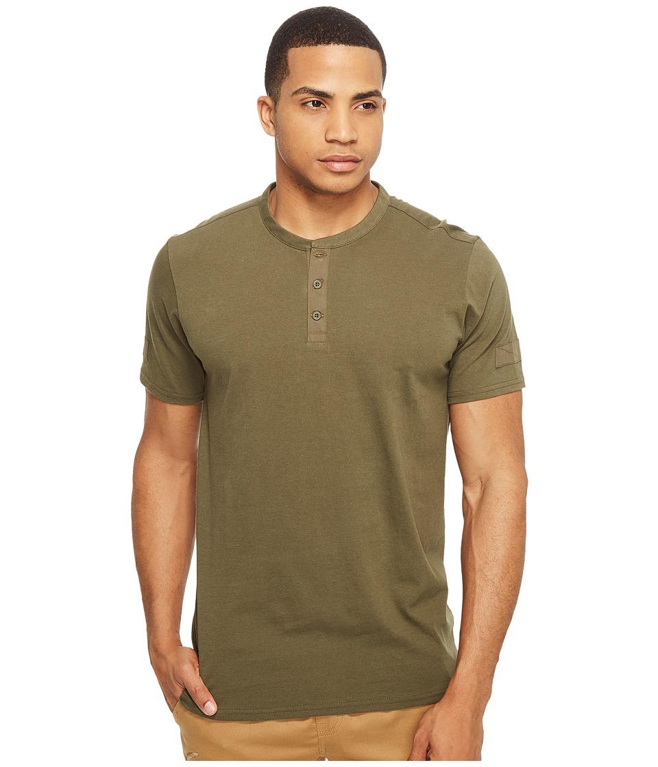 Tavik - Bunker Short Sleeve Knit (Olive) Men's Short Sleeve Pullover