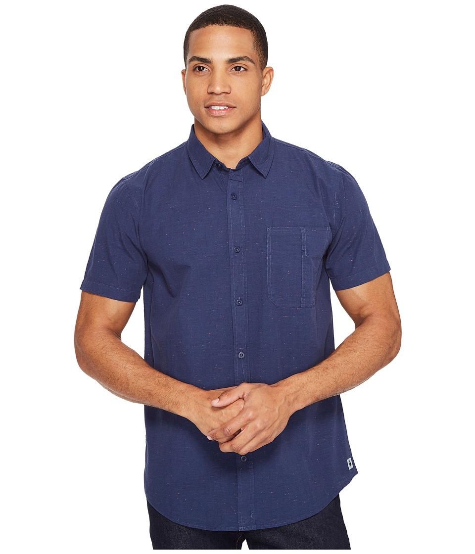 Tavik - Delancy Short Sleeve Woven (Indigo) Men's Short Sleeve Pullover