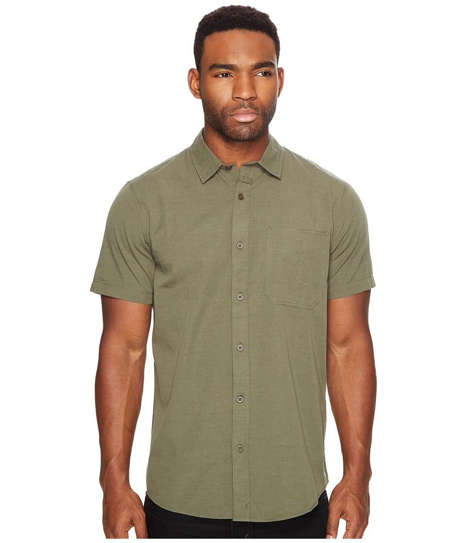 Tavik - Delancy Short Sleeve Woven (Olive) Men's Short Sleeve Pullover