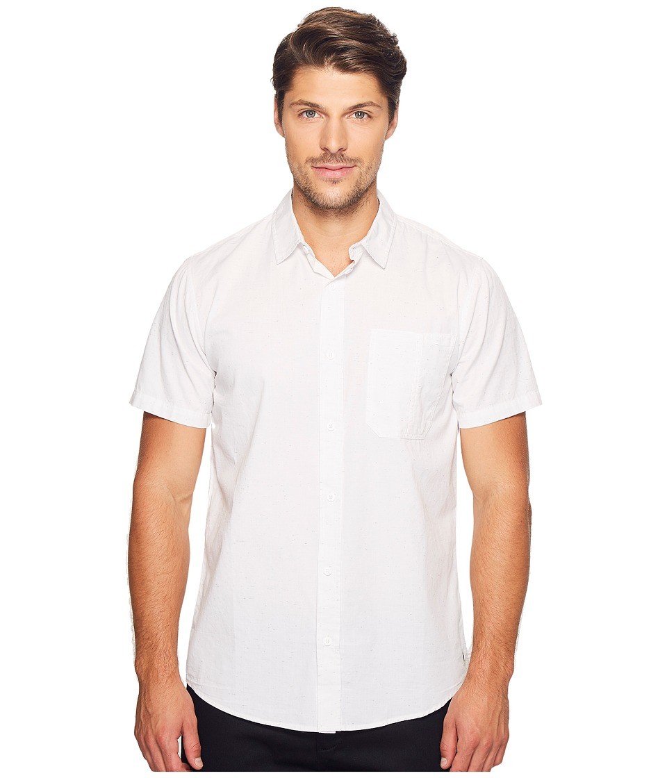 Tavik - Delancy Short Sleeve Woven (White) Men's Short Sleeve Pullover