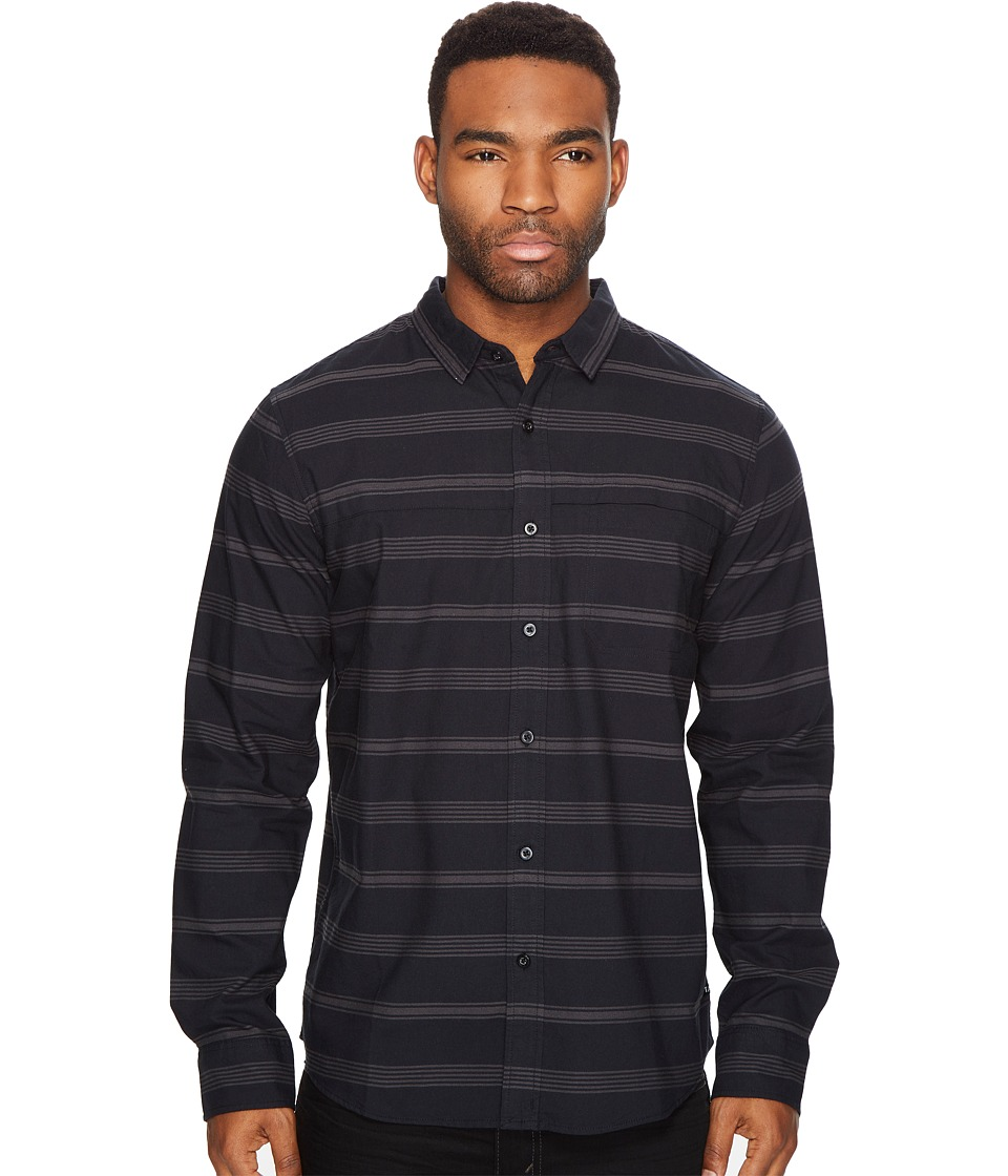 Tavik - Shin Woven Long Sleeve Shirt (Black/Raven) Men's Long Sleeve Pullover