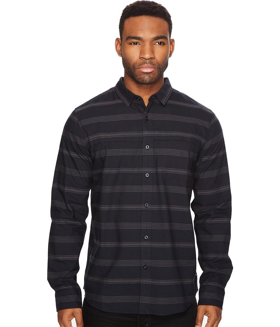 Tavik - Shin Woven Long Sleeve Shirt (Black/Raven) Men's Long Sleeve Pullover