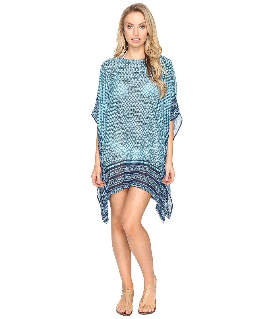 Jantzen - Wow Factor Caftan Cover-Up (Turquoise) Women's Swimwear