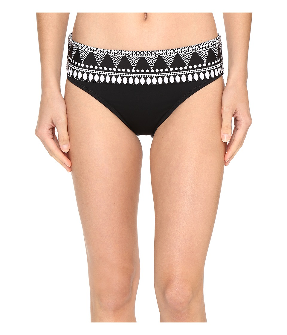 Jantzen - Dahlia's Garden Fold-Over Pants Bottom (Black) Women's Swimwear