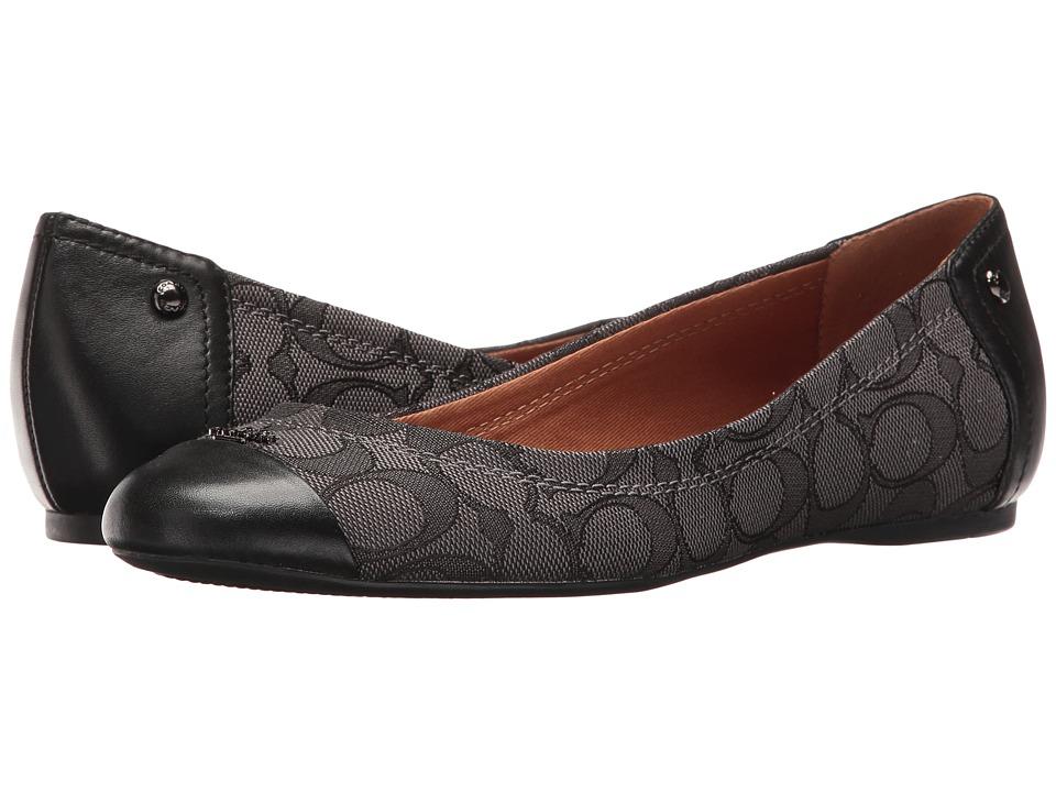 COACH - Chelsea (Black Smoke) Women's Flat Shoes