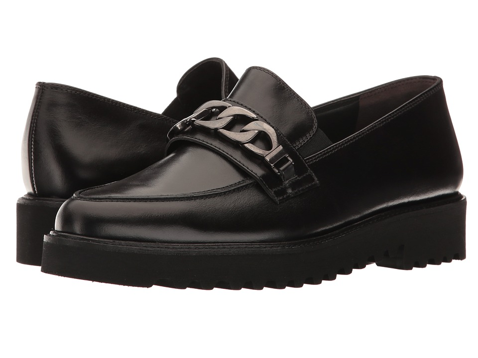 Paul Green - Maria Loafer (Black Leather) Women's Shoes