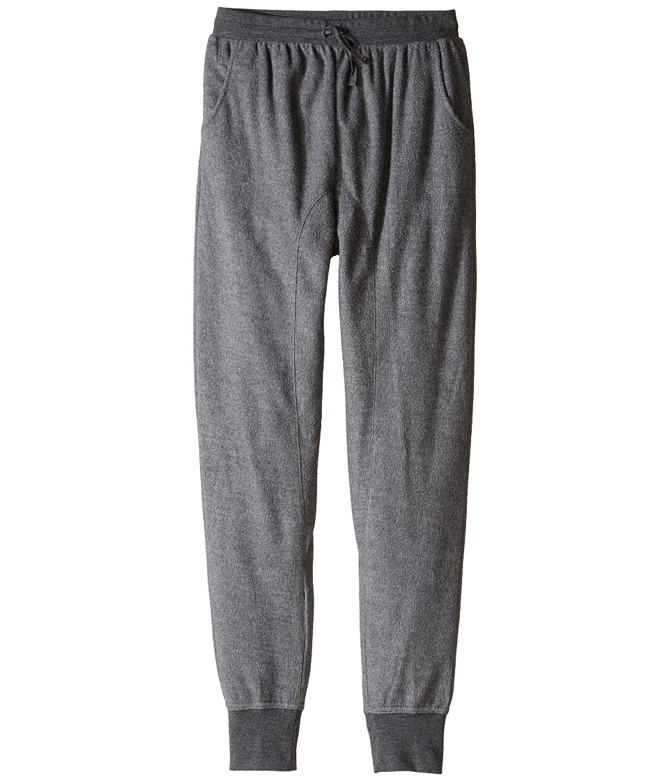 C&C California Kids - Drop Rise Jogger Pants (Little Kids/Big Kids) (Charcoal Heather) Girl's Casual Pants