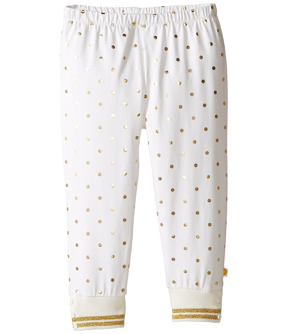 C&C California Kids - Foil Dot Print Leggings (Infant) (Snow White) Girl's Casual Pants