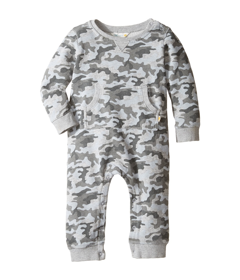 C&C California Kids - Long Sleeve Romper (Infant) (Steel Grey Camo) Boy's Jumpsuit & Rompers One Piece