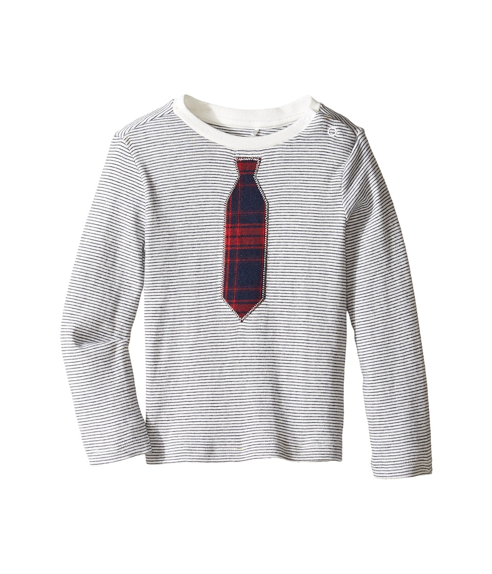 C&C California Kids - Long Sleeve Top (Infant) (Snow White/Navy) Boy's Long Sleeve Pullover