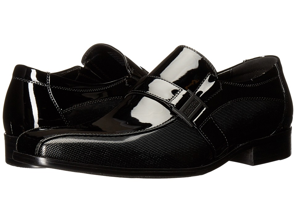 Kenneth Cole Reaction Big News (Black Patent Leather) Men