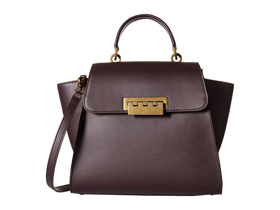 ZAC Zac Posen - Eartha Iconic Top-Handle Glazed (Raisin) Top-handle Handbags