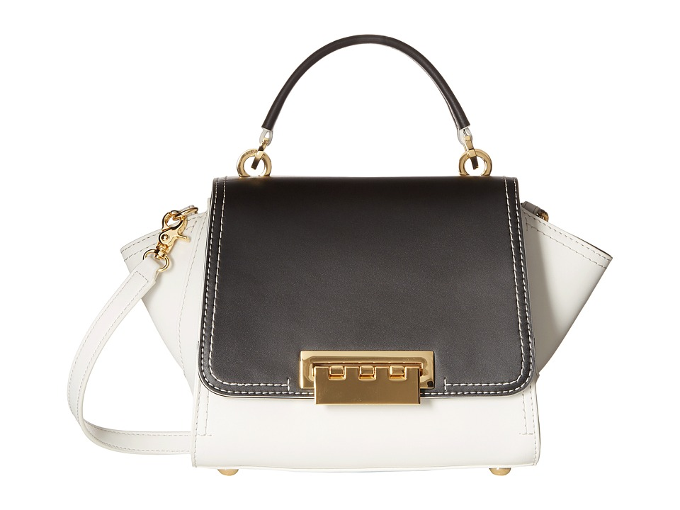 ZAC Zac Posen - Eartha Mini Top-Handle Crossbody (Black/White Color Block) Top-handle Handbags