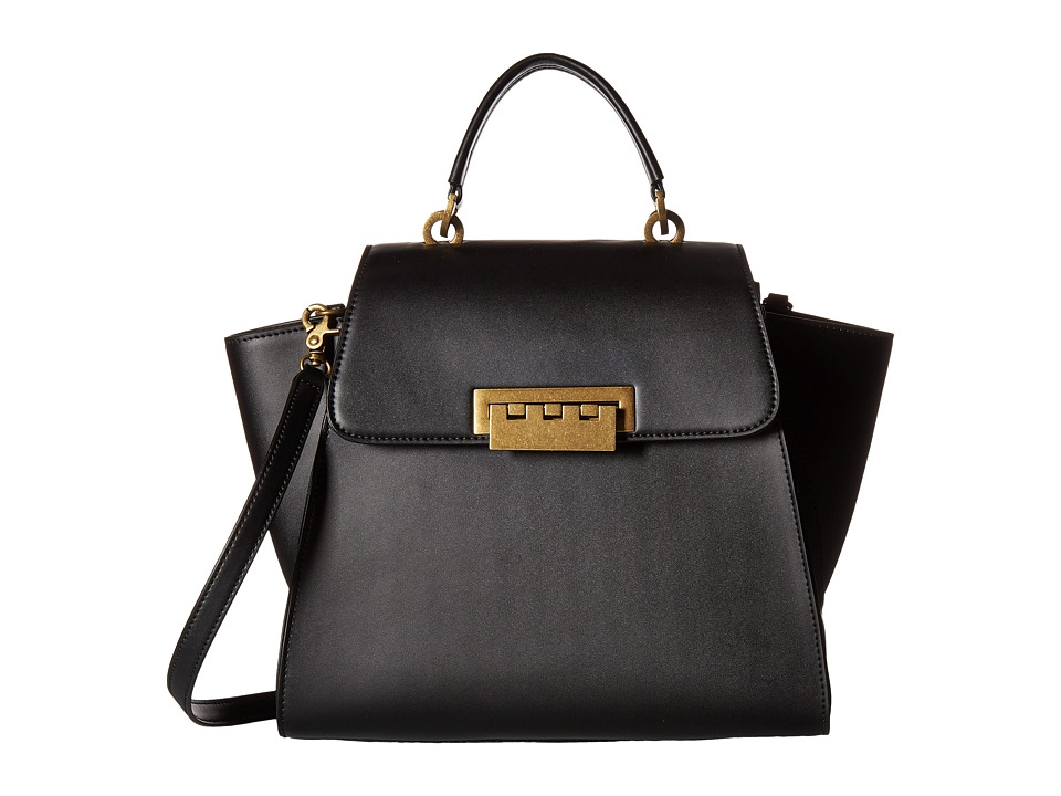 ZAC Zac Posen - Eartha Iconic Top-Handle Glazed (Black) Top-handle Handbags