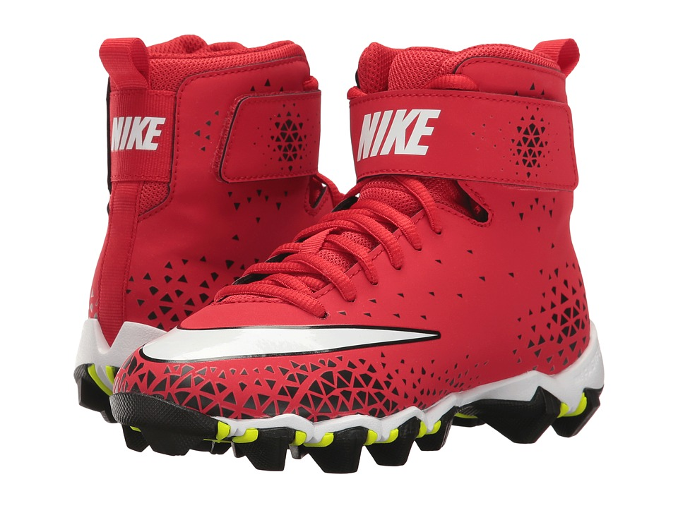Nike Kids - Force Savage Shark Football (Toddler/Little Kid/Big Kid) (University Red/White/Black) Kids Shoes