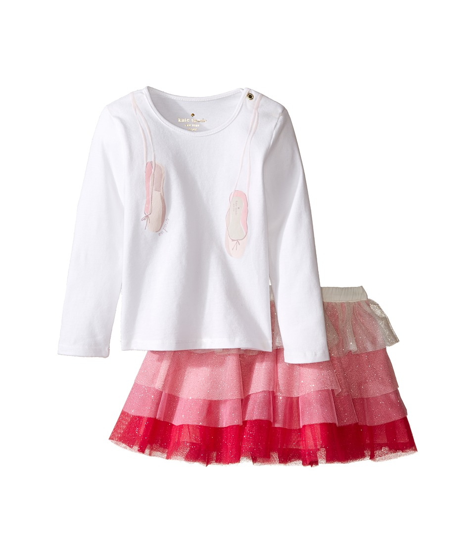 Kate Spade New York Kids - Ruffle Skirt Set (Infant) (Fresh White/Multi) Girl's Active Sets