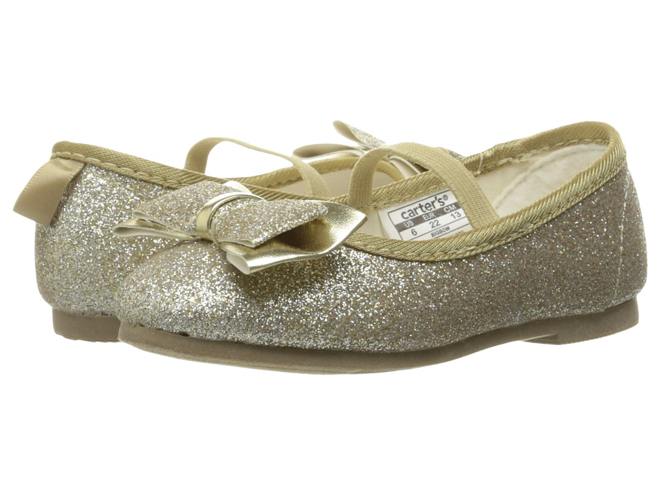 Carters - Bigbow (Toddler/Little Kid) (Light Gold Glitter) Girl's Shoes