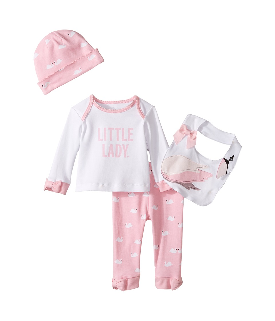Kate Spade New York Kids - Four-Piece Gift Box (Infant) (Cream/Swan) Girl's Pajama Sets