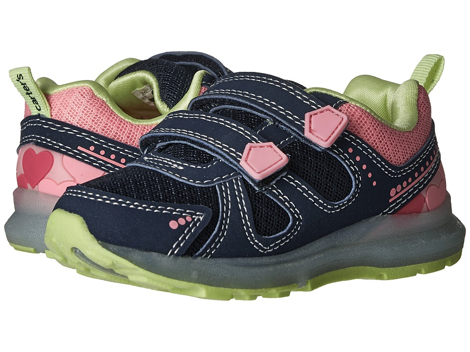 Carters - Fury-G (Toddler/Little Kid) (Navy/Pink/Yellow) Girl's Shoes