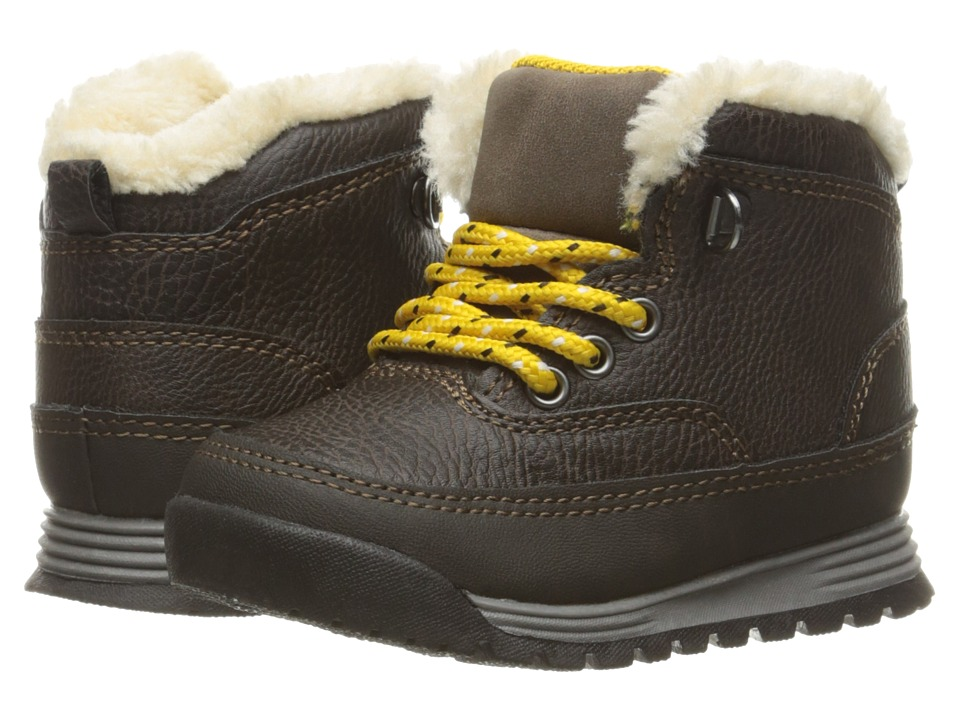 Carters Spike 2 (Toddler/Little Kid) (Dark Brown/Yellow) Boy