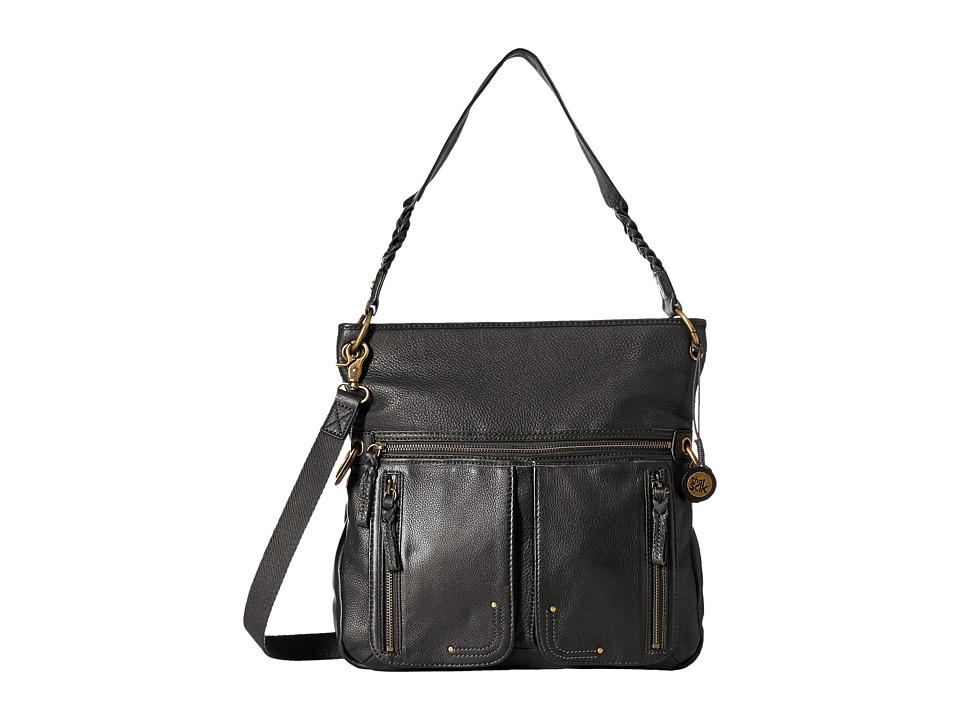 The Sak - Pax Large Crossbody (Black) Cross Body Handbags