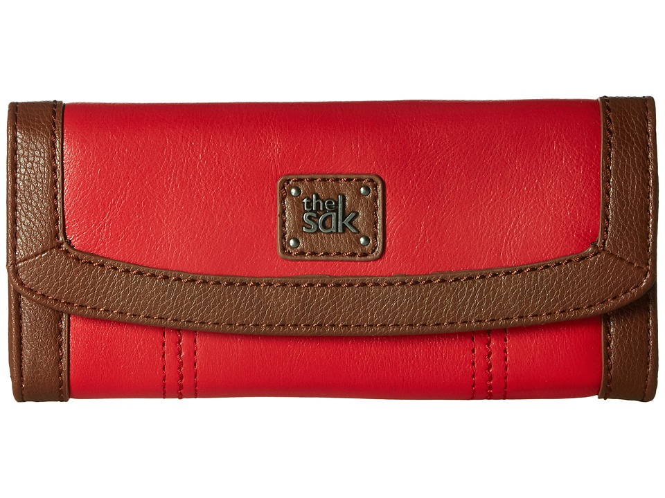 The Sak - Iris Flap Wallet (Ruby) Wallet Handbags
