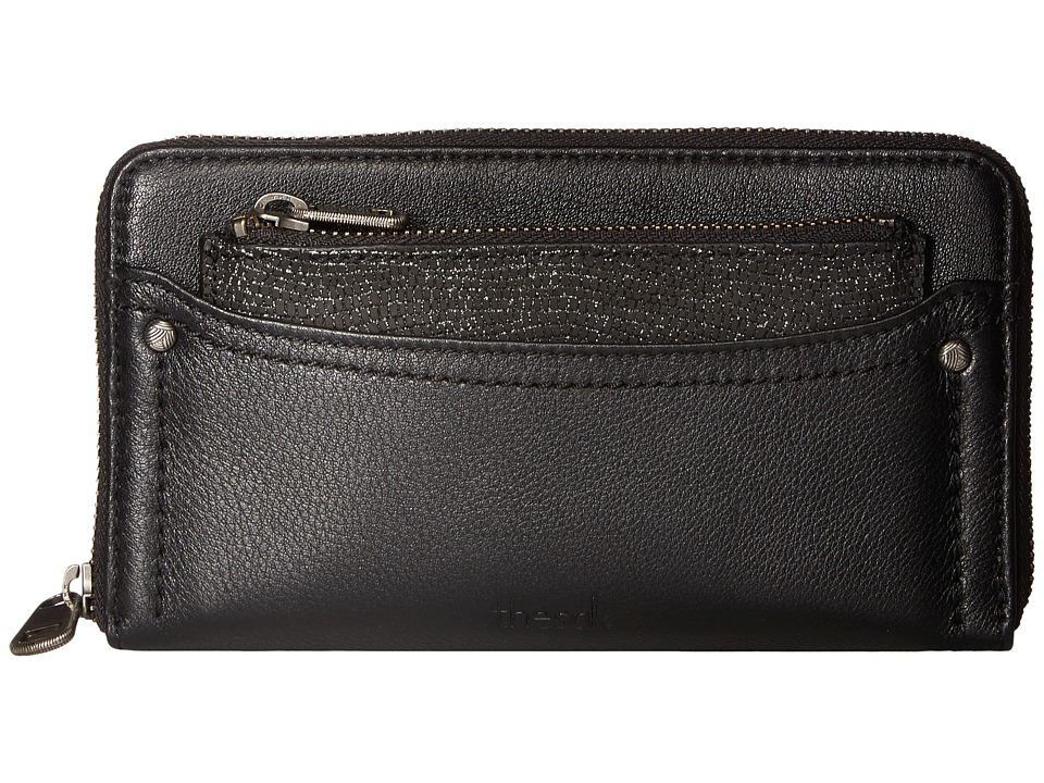 The Sak - Sonora Zip Around Wallet (Black Sparkle) Wallet Handbags