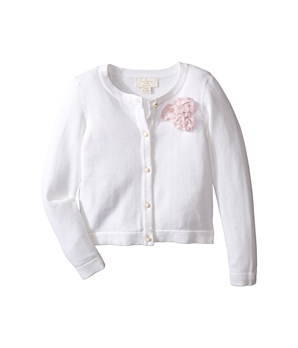 Kate Spade New York Kids - Rosette Cardigan (Toddler/Little Kids) (Cream) Girl's Sweater