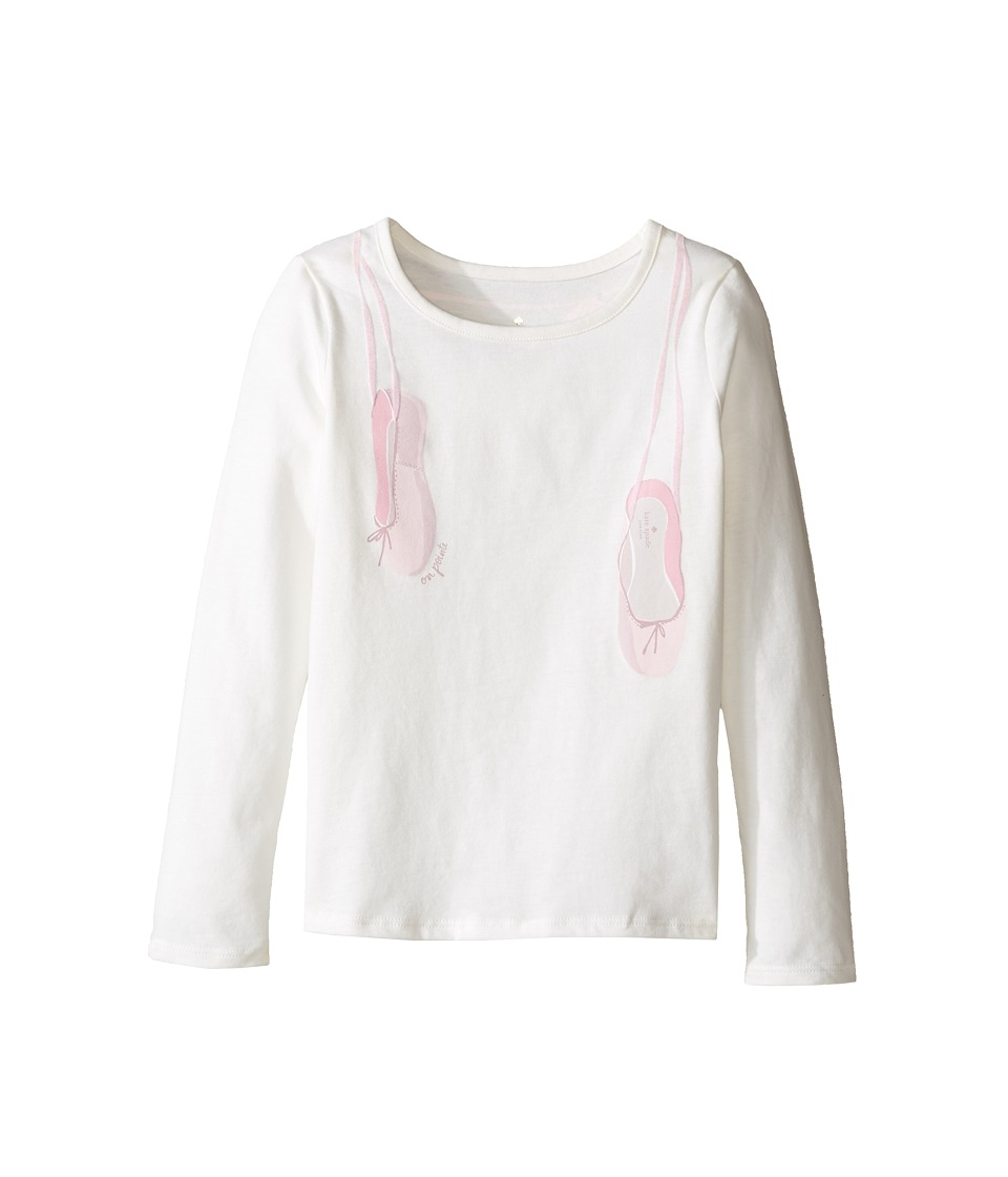 Kate Spade New York Kids - On Pointe Tee (Toddler/Little Kids) (Cream) Girl's T Shirt