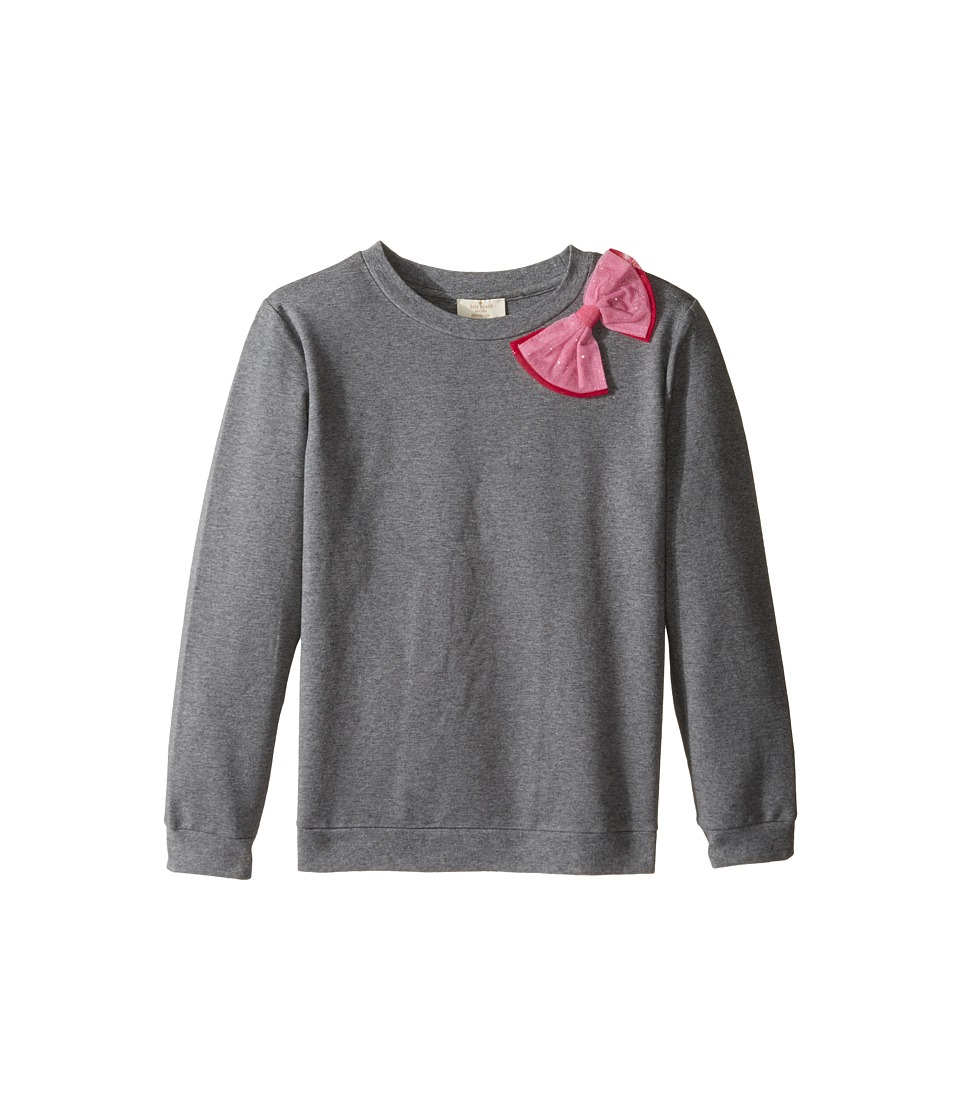 Kate Spade New York Kids - Dorothy Sweatshirt (Little Kids/Big Kids) (Heather Grey) Girl's Sweatshirt