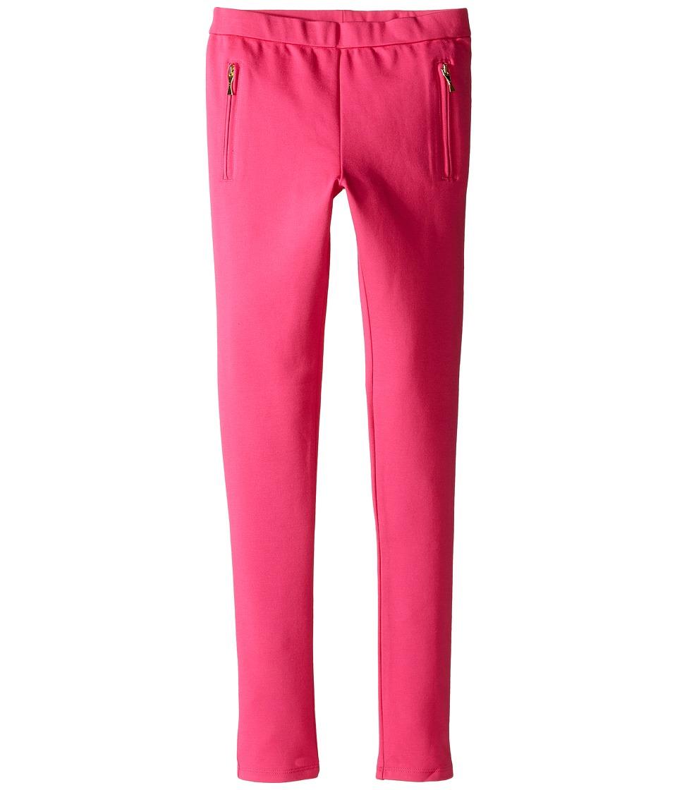 Kate Spade New York Kids - Zipper Leggings (Big Kids) (Cabaret Pink) Girl's Casual Pants